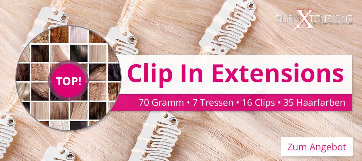 Echthaar Clip In Extensions in 70 Gramm, 100 % Human Hair