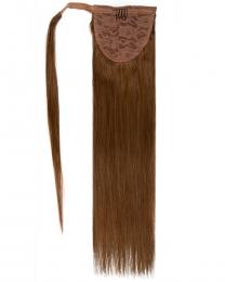Pferdeschwanz Echthaar Ponytail Haarteil Extensions 12 - Hellbraun