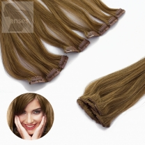 Clip In Extensions 5-teilig #12 Hellbraun-60 cm
