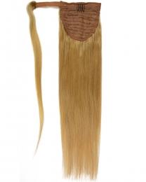 Pferdeschwanz Echthaar Ponytail Haarteil Extensions 18 - Dunkelblond