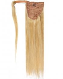 Pferdeschwanz Echthaar Ponytail Haarteil Extensions 18/613 - Dunkelblond/Helllichtblond gesträhnt