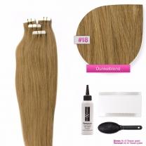 Tape In Extensions Echthaar Haarverlängerung #18 Dunkelblond
