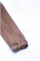 Echthaar Tressen - Weft Extensions #18 Dunkelblond