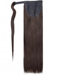Pferdeschwanz Echthaar Ponytail Haarteil Extensions 1b - Naturschwarz
