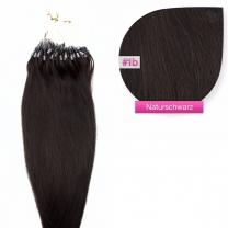 Microring Loop Extensions 100% Echthaar 0,5g #1b Naturschwarz Haarverlängerung