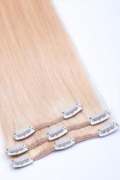 Clip In Extensions Echthaar 3-teilig #24 - Blond