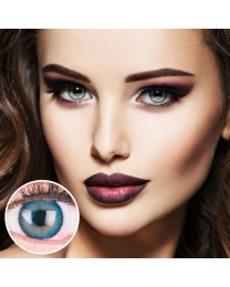 GLAMLENS Farbige Blaue Kontaktlinsen 'Mirel Blue' Mit und Ohne Stärke