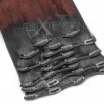 Clip In Extensions 100 Gramm glatt Remy Echthaar Farbnummer #1/33 Ombre