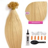Bonding Keratin Extensions, 1g, #24 - Blond