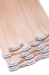 Dieses Bild zeigt die 7-teilige GlamXtensions Clip In Extensions Haarverlängerung mit 16 Clips in der Farbe #60 Weißblond in Großansicht