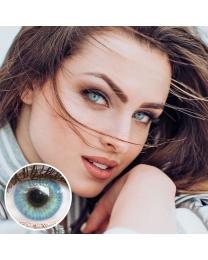 GLAMLENS Farbige Blaue Kontaktlinsen 'Jasmine Light Blue' Mit und Ohne Stärke