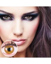 GLAMLENS Farbige Braune Kontaktlinsen 'Jasmine Brown' Mit und Ohne Stärke