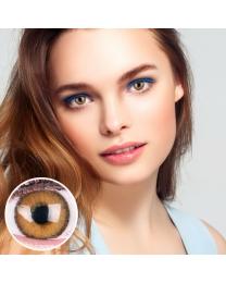 GLAMLENS Farbige braune Kontaktlinsen 'Mirel Brown' Mit und Ohne Stärke