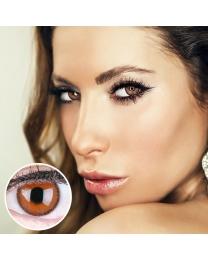 GLAMLENS Farbige braune Kontaktlinsen 'Mirel Choco' Mit und Ohne Stärke