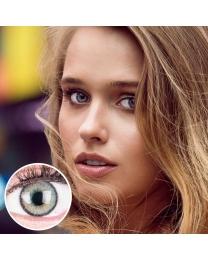 GLAMLENS Farbige Graue Kontaktlinsen 'Mirel Gray' Mit und Ohne Stärke
