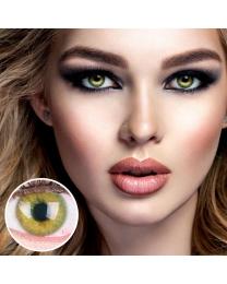 GLAMLENS Farbige Grüne Kontaktlinsen 'Jasmine Green' Mit und Ohne Stärke
