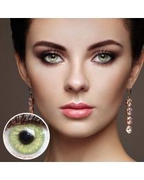 GLAMLENS Farbige Grüne Kontaktlinsen 'Jasmine Light Green' Mit und Ohne Stärke