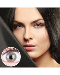 GLAMLENS Farbige Graue Kontaktlinsen 'Jasmine Gray' Mit und Ohne Stärke