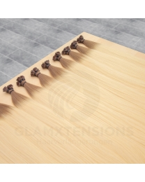 Flachbondings 50cm 1 Gramm #6/613 Mittelbraun/Helllichtblond Ombre
