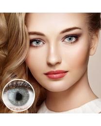 GLAMLENS Farbige Graue Kontaktlinsen 'Keira Gray' Ohne Stärke