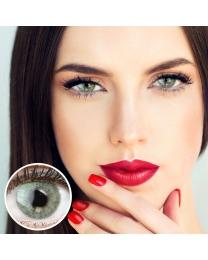 GLAMLENS Farbige Grüne Kontaktlinsen 'Keira Green' Ohne Stärke