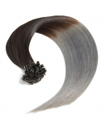 Ombre Bonding Keratin Extensions, 1g, #1b/dark gray
