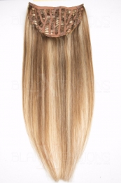 Dieses Bild zeigt die 1-teilige GlamXtensions Half-wig Extensions Haarverlängerung mit 10 Clips in der Farbe #12/613 Hellbraun - Helllichtblond in Großansicht