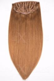 Echthaar Perücken Halbperücken Haarteile 50cm #27 Honigblond Haarverlängerung mit Clip In