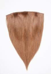 Dieses Bild zeigt die 1-teilige GlamXtensions Half-wig Extensions Haarverlängerung mit 10 Clips in der Farbe #10 Helles Braun in Großansicht