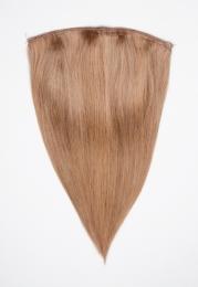 Dieses Bild zeigt die 1-teilige GlamXtensions Half-wig Extensions Haarverlängerung mit 10 Clips in der Farbe #14/17 Hazelblond - Dunkelashblond in Großansicht