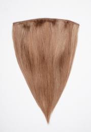 Dieses Bild zeigt die 1-teilige GlamXtensions Half-wig Extensions Haarverlängerung mit 10 Clips in der Farbe #14/10 Hazelblond - Helles Braun in Großansicht