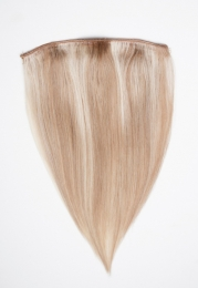 Dieses Bild zeigt die 1-teilige GlamXtensions Half-wig Extensions Haarverlängerung mit 10 Clips in der Farbe #14/60 Hazelblond - Weißblond in Großansicht