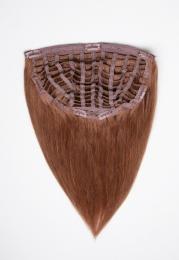 Dieses Bild zeigt die 1-teilige GlamXtensions Half-wig Extensions Haarverlängerung mit 10 Clips in der Farbe #30 Rotbraun in Großansicht