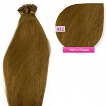 Microring I-Tip Extensions 100% Echthaar 0,5g #12 Hellbraun Haarverlängerung