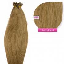 Microring I-Tip Extensions 100% Echthaar 0,5g #18 Dunkelblond Haarverlängerung