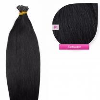 Microring I-Tip Extensions 100% Echthaar 0,5g #01 Schwarz Haarverlängerung
