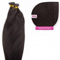 Microring I-Tip Extensions 100% Echthaar 0,5g #1b Naturschwarz Haarverlängerung