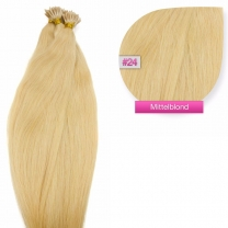 Microring I-Tip Extensions 100% Echthaar 0,5g #24 Blond Haarverlängerung