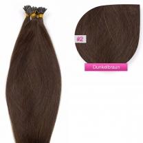 Microring I-Tip Extensions 100% Echthaar 0,5g #02 Dunkelbraun Haarverlängerung