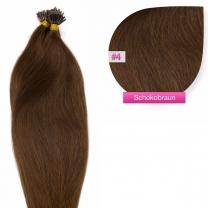 Microring I-Tip Extensions 100% Echthaar 0,5g #04 Schokobraun Haarverlängerung