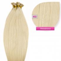 Microring I-Tip Extensions 100% Echthaar 0,5g #60 Weißblond Haarverlängerung