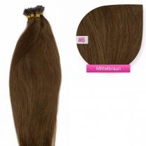 Microring I-Tip Extensions 100% Echthaar 0,5g #06 Mittelbraun Haarverlängerung