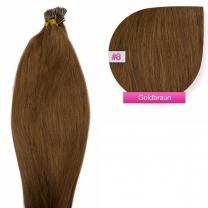 Microring I-Tip Extensions 100% Echthaar 0,5g #08 Goldbraun Haarverlängerung