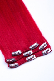 Clip In Extensions Echthaar 3-teilig #red - Rot