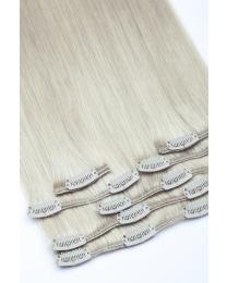 Dieses Bild zeigt die 7-teilige GlamXtensions Clip In Extensions Haarverlängerung mit 16 Clips in der Farbe #33 Kastanie in Großansicht