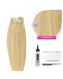 Tape In Extensions Echthaar Haarverlängerung #24 Blond