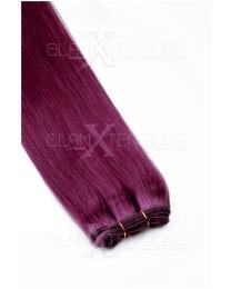 Dieses Bild zeigt die GlamXtensions Weft Extensions Haarverlängerung in der Farbe #01 Schwarz in Großansicht. Die echthaar Tressen Extensions sind in vielen verschiedenen Farben erhältlich.