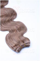Echthaar Tressen - Weft Extensions gewellt 50 - 60 cm #18 Dunkelblond