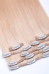Clip In Extensions Echthaar 7-teilig 100g #24 - Blond