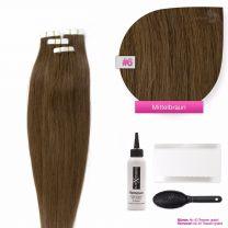Tape In Extensions Echthaar Haarverlängerung #06 Mittelbraun